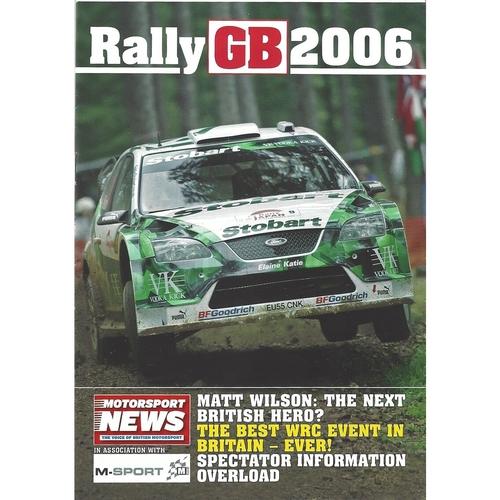 2006 Motorsport News Rally GB Guide & Sticker