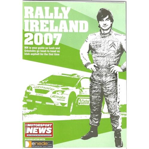 2007 Motorsport News Rally Ireland Guide