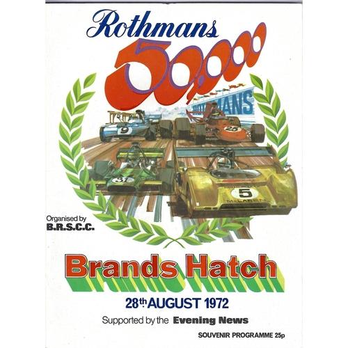Brands Hatch Motor Racing Programmes