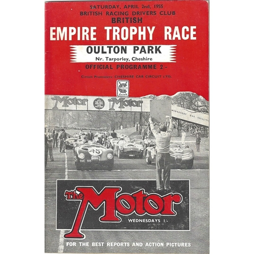 1955 Oulton Park B.R.D.C British Empire Trophy Race Meeting (02/04/1955) motor racing programme
