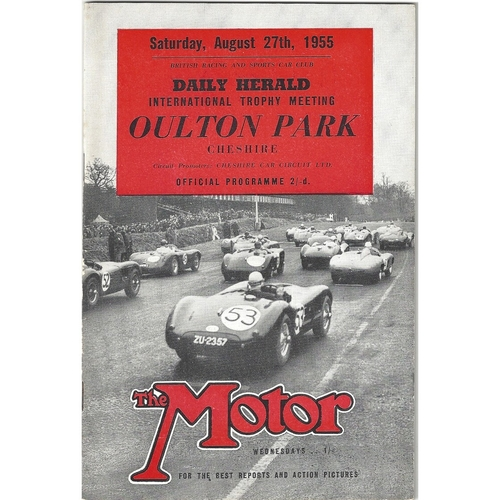 1955 Oulton Park Daily Herald International Trophy Meeting (27/08/1955) motor racing programme