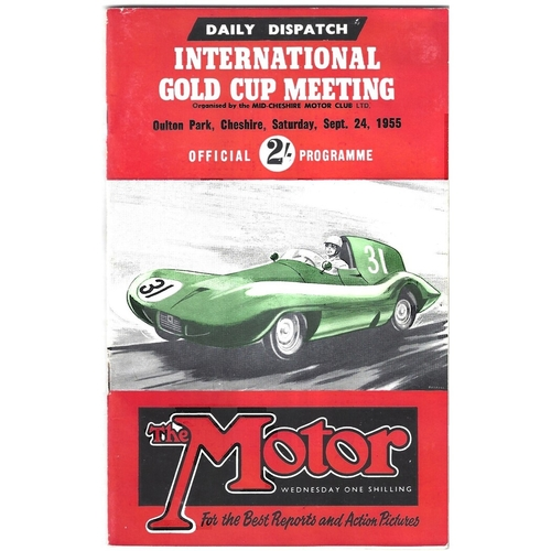 1955 Oulton Park Daily Dispatch International Gold Cup Meeting (24/09/1955) motor racing programme