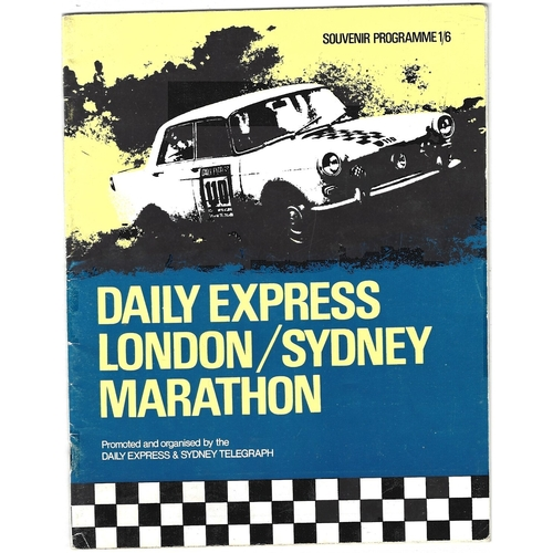 1968 Daily Express London-Sydney Marathon motor racing programme