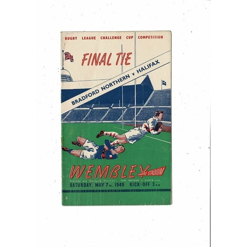 1949 Bradford Northern v Halifax Rugby League Challenge Cup Final Programme