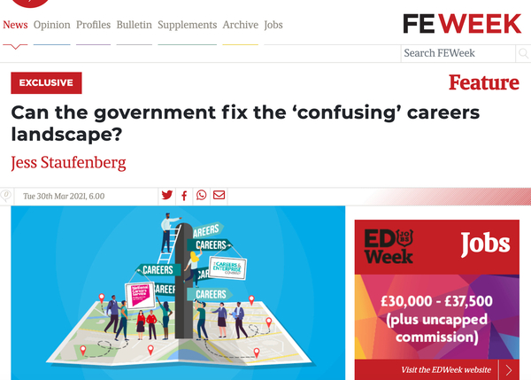 Can the Government fix the 'confusing' careers landscape