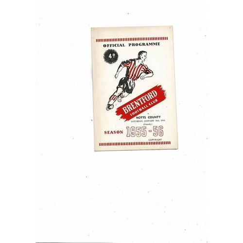 Brentford v Notts County Friendly Football Programme 1955/56