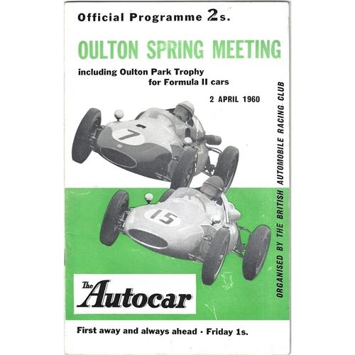 1960 Oulton Park Oulton Spring Meeting (02/04/1960) motor racing programme