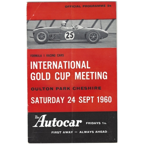 1960 Oulton Park International Gold Cup Meeting (24/09/1960) motor racing programme