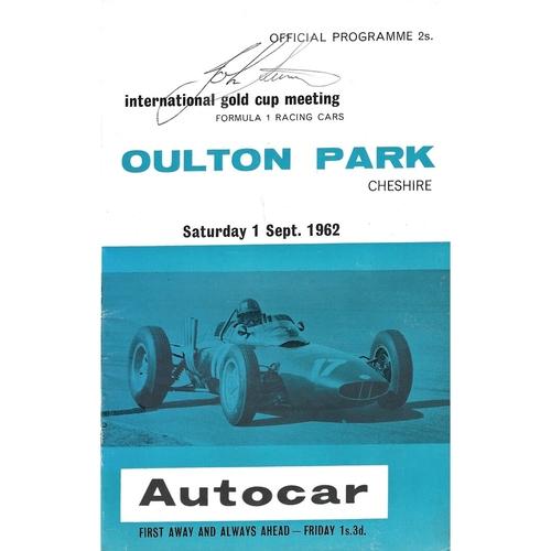 Oulton Park Motor Racing/Motor Cycle Racing Programmes