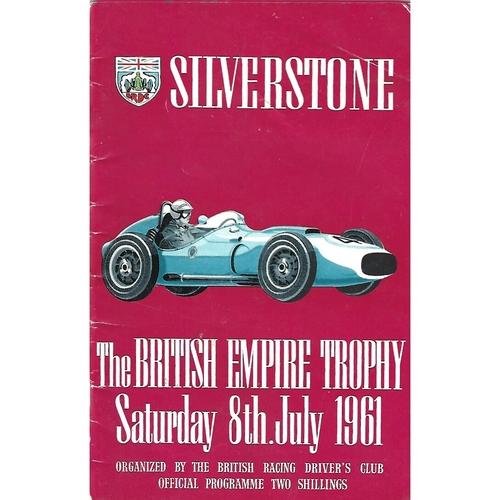 1961 Silverstone British Empire Trophy Meeting (08/07/1961) Motor Racing Programme