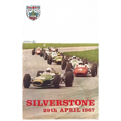 1967 Silverstone 19th International Trophy Meeting (29/04/1967) Motor Racing Programme