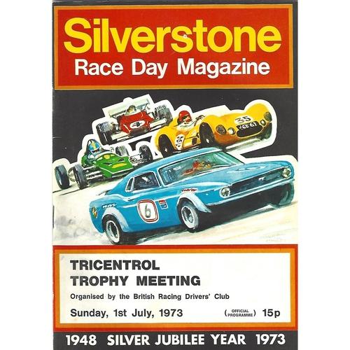 1973 Silverstone Tricentrol Trophy Meeting (01/07/1973) Motor Racing Programme