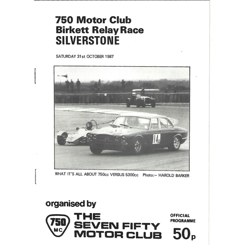 Silverstone Motor Racing/Motor Cycle Racing Programmes