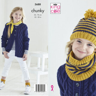 Cardigan, Hat & Snood Pattern 5688