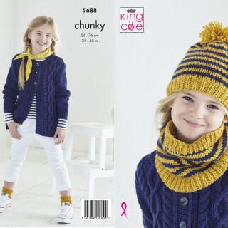 Cardigan, Hat & Snood Pattern 5688