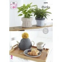 Plant Pot Covers, Tea Cosy & Bag Pattern 5694