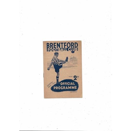 1946/47 Brentford v Charlton Athletic Football Programme