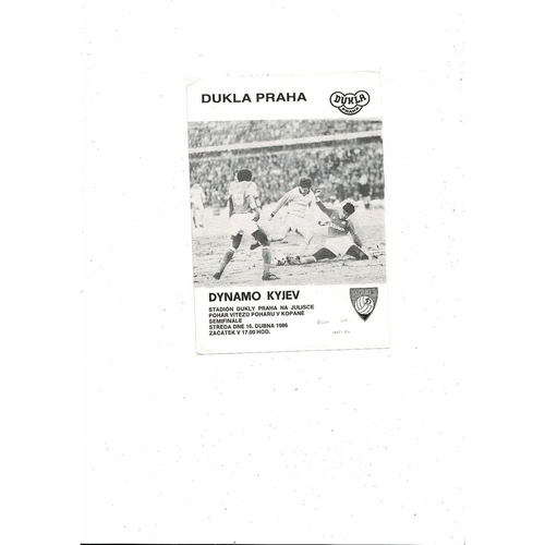 1985/86 Dukla Prague v Dynamo Keiv European Cup Winners Cup Semi Final
