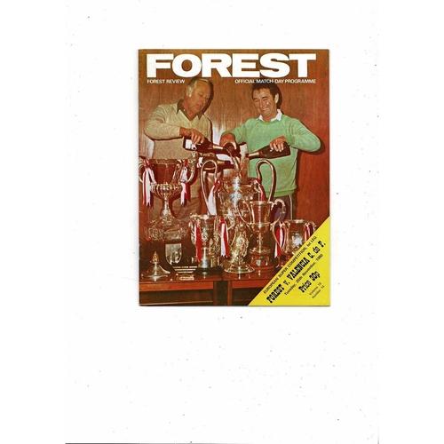 1980 Nottingham Forest v Valencia European Super Cup Final Football Programme