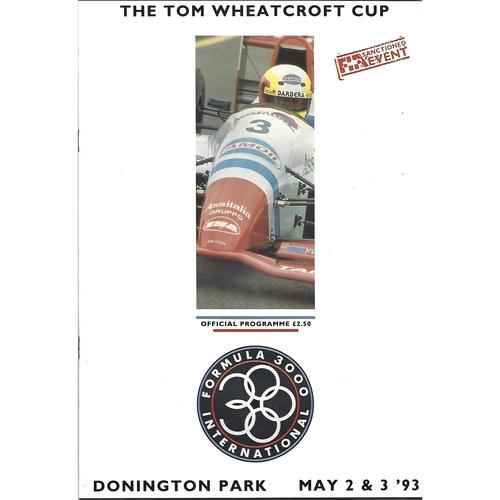 1993 Donnington Park Formula 3000 International The Tom Wheatcroft Cup Race Meeting 02-03/05/1993) Motor Racing Programme