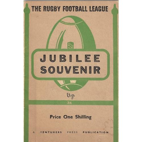 1946 The Rugby Football League Jubilee Souvenir Brochure