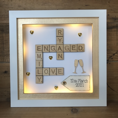 engagement / wedding scrabble word art