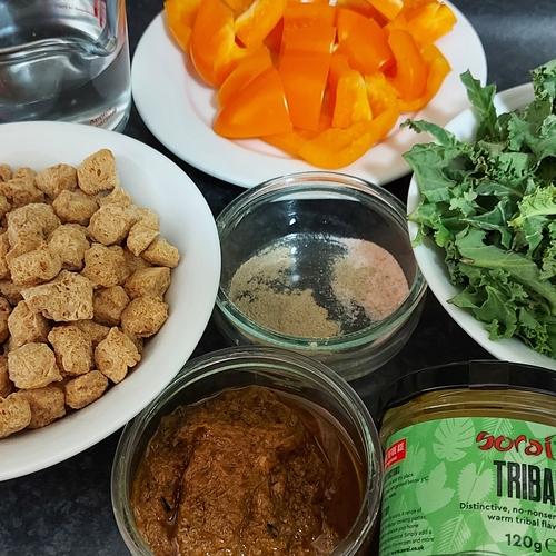 Tribal Soya Chunks with Veg Stir Fry