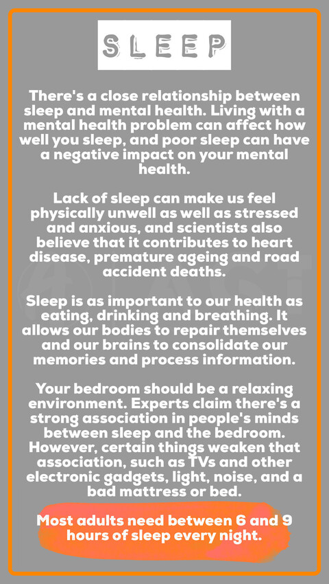 Andy Garland Therapies - Counselling Cardiff - Mental Health Services Cardiff - Cardiff Therapists - daily wellbeing - sleep