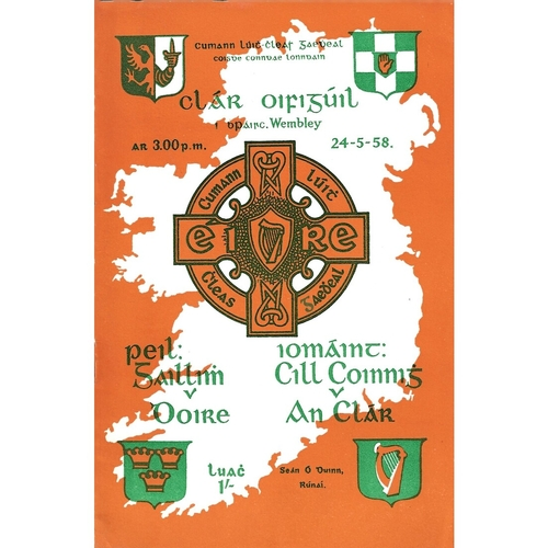 1958 Wembley Gaelic Games (Derry v Galway & Claire v Kilkenny) Programme