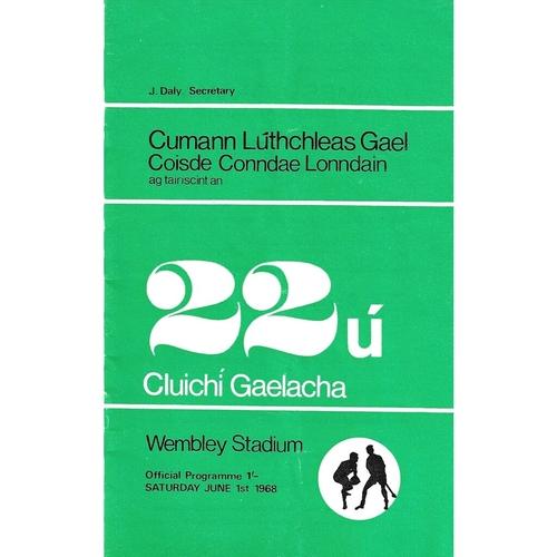 1968 Wembley Gaelic Games (Mayo v Meath & Wexford v Cork) Programme