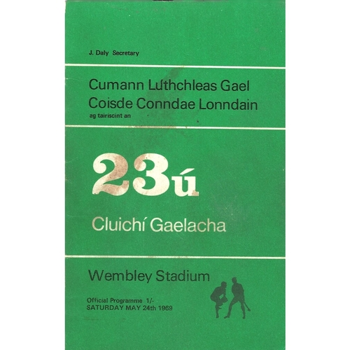 1969 Wembley Gaelic Games (Kerry v Down & Wexford v Tipperary) Programme