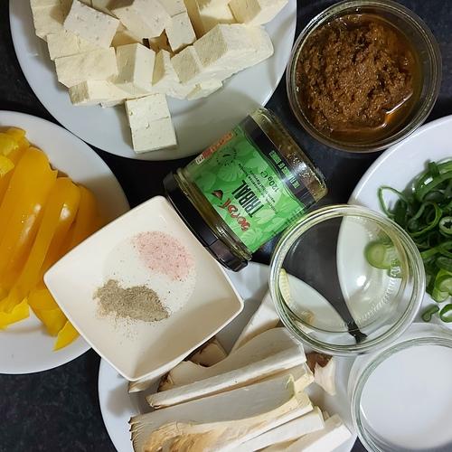 Tribal Tofu with King Oyster Mushroom Stir Fry