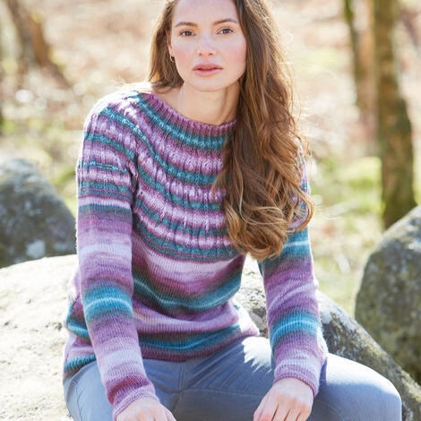 Patterned Yoke Sweater Pattern 10033