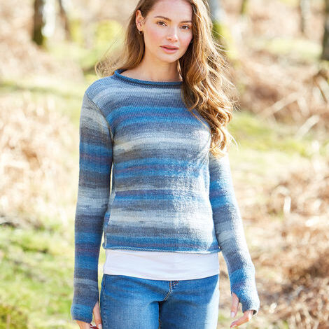 Roll Neck Casual Sweater Pattern 10036