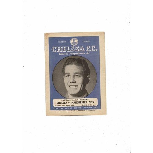 1948/49 Chelsea v Manchester City Football Programme