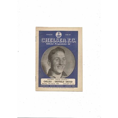 1948/49 Chelsea v Sheffield United Football Programme
