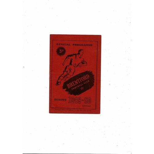 1949/50 Brentford v Cardiff City Football Programme