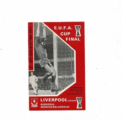 1973 Liverpool v Borussia Monchengladbach UEFA Fairs Cup Final Football Programme