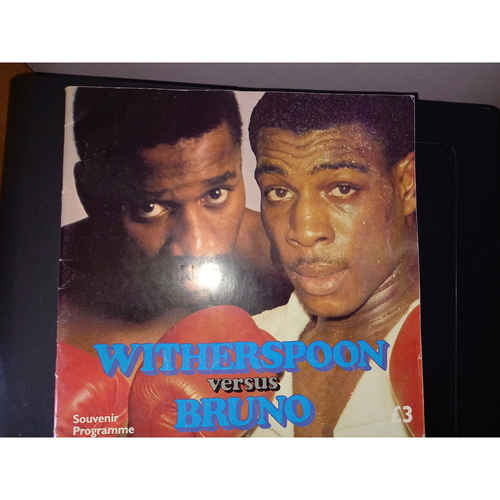 1986 Tim Witherspoon v Frank Bruno Boxing Programme