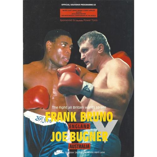 1987 Frank Bruno v Joe Bugner Boxing Programme