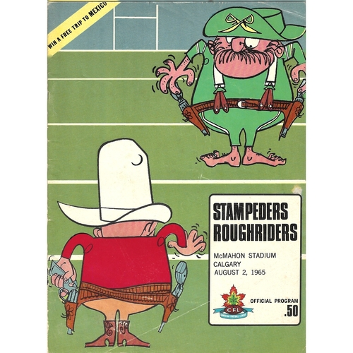 1965 Calgary Stampeders v Ottawa Roughriders Canadian Football League Programme
