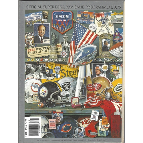 1991 Buffalo Bills v New York Giants Super Bowl XXV National Football League Programme