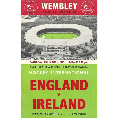England Women's Hockey Programmes
