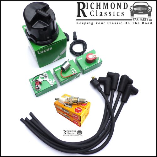 Classic Mini (Early) Ignition Service Kit - GHT241, BP6ES, 25D