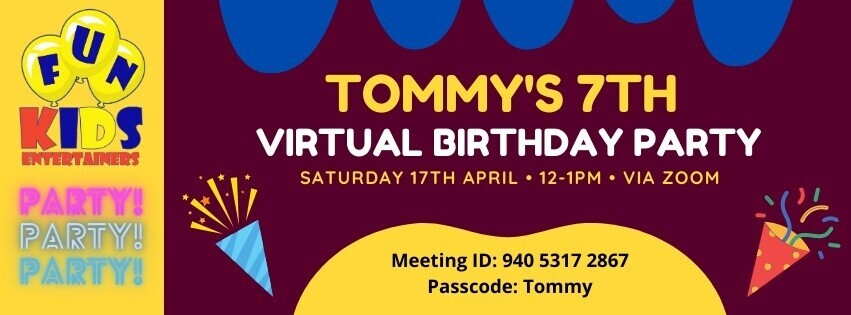 Virtual Kids Party (Ages 4-11)
