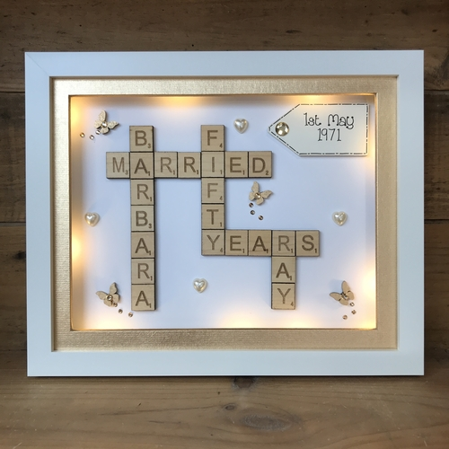 Anniversary scrabble word art