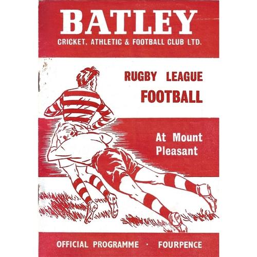 1964/65 Batley v Bradford Northern Rugby League Programme