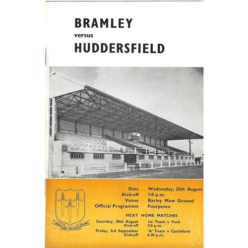1965/66 Bramley v Huddersfield Rugby League Programme