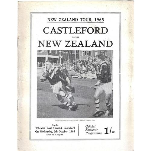 1965/66 Castleford v New Zealand Rugby League Tour Match Programme