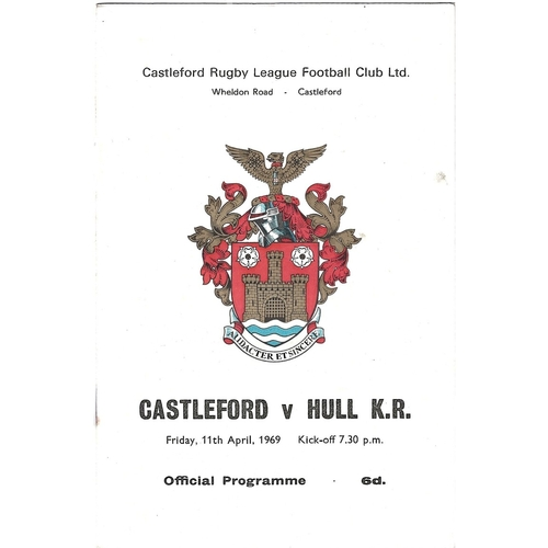 1968/69 Castleford v Hull Kingston Rovers Rugby League Programme